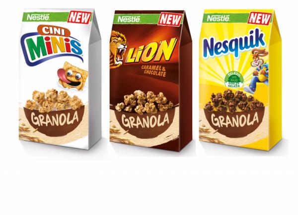 Cini Minis, Nesquik a Lion Granola