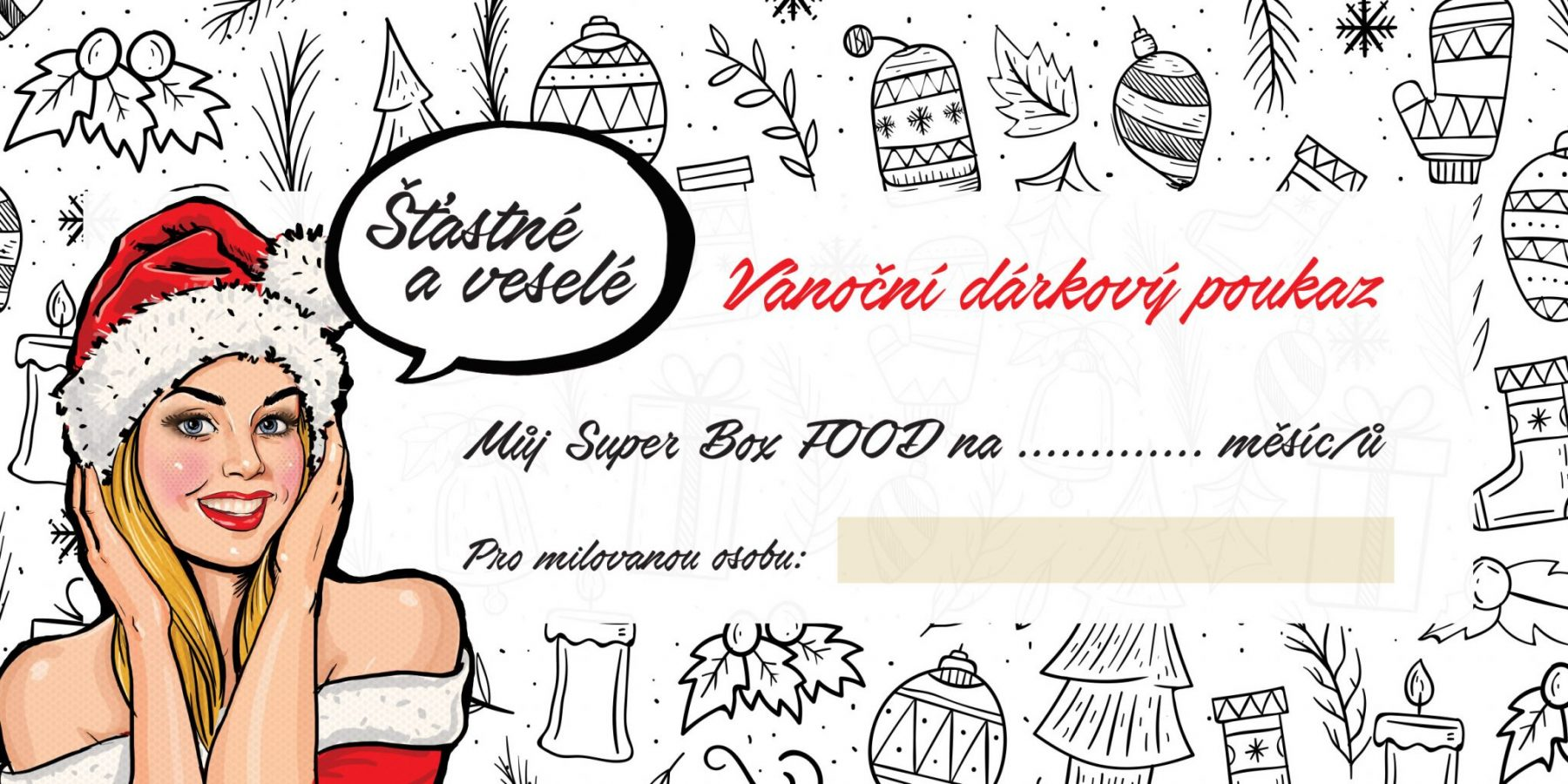box voucher vanoce