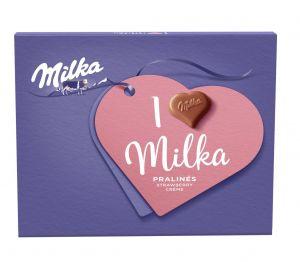 I love Milka pralinky Strawberry