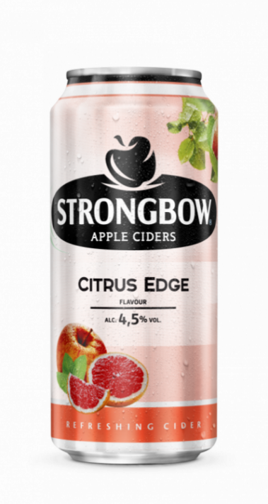 Strongbow Citrus 44cl can wet