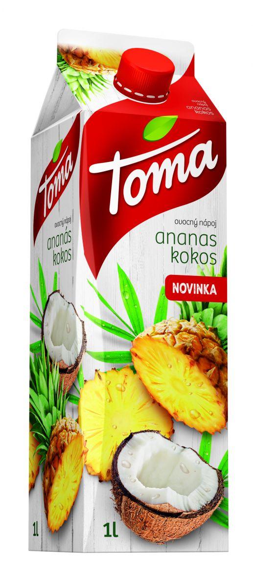 TOMA JUICE 1L ANANAS_KOKOS_2020
