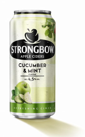 Strongbow Cucumber & Mint 44cl can wet VI