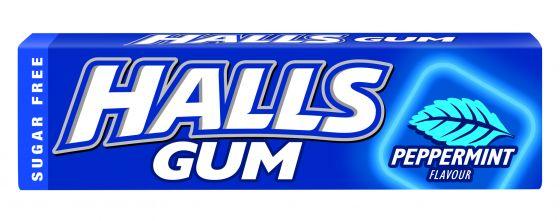 57030166 Halls Gum Peppermint 14g