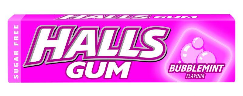 57030173 Halls Gum Bubblemint 14g